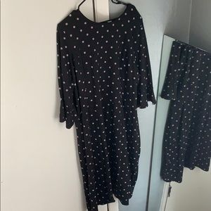 Black polkadot dress